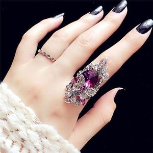 🦋2pc Butterfly Ring set size 8